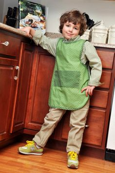 Children's Medium Slip On Cooking Apron by QuiltandQuest on Etsy, $27.00