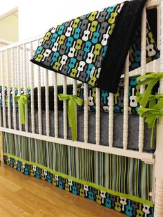 Crib Bedding MADE TO ORDER Groovy Guitar Baby by LittleCharlieMay, $409.00