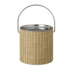 Kraftware Woven 3 Qt. Ice Bucket with Metal Bar Lid Color: