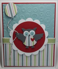 Stampin Up Birthday Card Ideas | Owl Birthday Card Stampin Up Handmade by BeingACreativeMom on Etsy