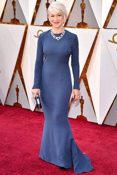 Helen Mirren in Reem Acra at 2018 Oscars