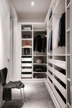 Trendy Apartment Walk In Closet Decor Dressing Rooms Walk In Closet Small, Walk In Closet Design, Bedroom Closet Design, Master Bedroom Closet, Small Closets, Bathroom Closet, Closet Designs, Bathroom Interior, Small Bathroom