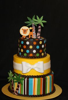 Safari Themed Baby Shower Cake | Best Themed Baby Showers, Shower Cakes And  Cake Creations Ideas