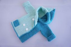 Детский жакет спицами для возраста от новорожденного до 2-х лет. Часть1-...