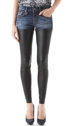 R13 Skinny Leather Jeans this look works if you are under 25!!! Over that, please wear at your own risk.  Wearing a trend should never look desperate!!