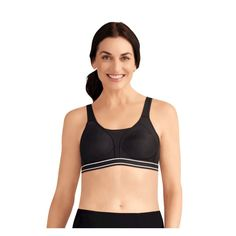 Amoena Performance Seamless Sports Bra - Black 34A