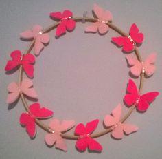 Felt Butterfly wreath