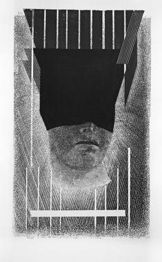 Ślepota duchowa, Szymon Ryczek, Gipsoryt, Drzeworyt , 122,5 x 76cm