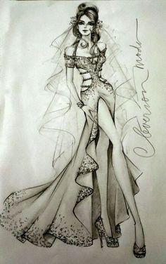 That's a beautiful wedding gown Dress Design Drawing, Dress Design Sketches, Fashion Design Sketchbook, Dress Drawing, Fashion Design Drawings, Illustration Mode, Fashion Illustration Sketches, Fashion Sketches, Fashion Drawing Dresses