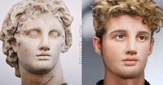 Mark Antony, Alexandre Le Grand, Different Colored Eyes, Great Warriors, Famous Portraits, Egyptian Queen, The Empress, Alexander The Great, Romanesque