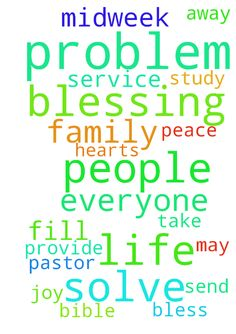 Dear God, please solve all the problems your people - Dear God, please solve all the problems your people have. Provide for them all they need. Send blessings upon blessing on their life. And may the peace of the Lord fill their hearts with joy. Please pray for our Midweek Prayer Service and Bible Study. That everyone who is having any problem in life Jesus can take it all away. Bless our pastor and his family. In Jesus name. Amen Posted at: https://prayerrequest.com/t/yAR #pray #prayer…