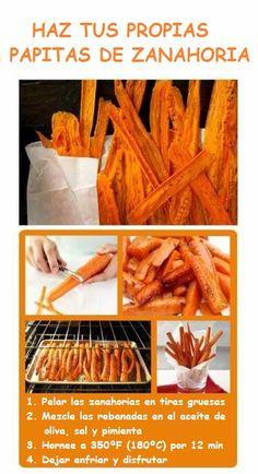 ( ^o^ ) Haz tus propias papitas de zanahoria