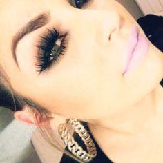 brows, eye makeup, lip color.