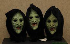 A trio of rare 1981 Don Post Studios Hagatha Witch masks -The Crimson Ghost Mask Room 2015