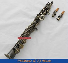 449.88$  Buy here - http://aii9f.worlditems.win/all/product.php?id=1272849258 - Antique Bronze Soprano Saxophone Bb key to High F&G key-2 Neckes