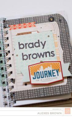 Alexes Brown - Carte Postal Mini Book Journal, Journals, Basic Grey, Smash Book, Mini Albums, Brown, Tags, Design