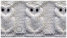 Cool knitting pattern of the owl Owl Knitting Pattern, Easy Knitting Patterns, Owl Patterns, Knitting Charts, Knitting Socks, Knitting Stitches, Baby Knitting, Stitch Patterns, Crochet Patterns