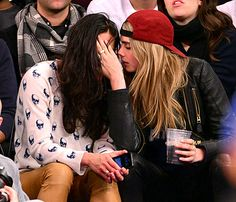 Michelle Rodriguez and Cara Delevingne at Madison Square Garden