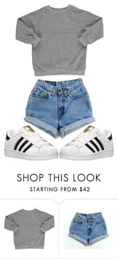 """"""""""" by sydthekyd01 on Polyvore featuring Popupshop, Levi's and adidas"""