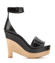 Stella McCartney - Lindsey faux-leather platform wedge sandals - mytheresa.com GmbH