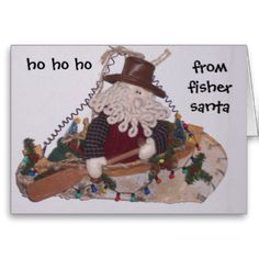 CHRISTMAS WISHES FROM SANTA THE FISHERMAN CARD