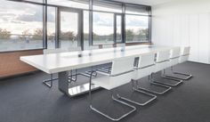 Thonet S 8000 Conference Table System – Modern Corporate Office Design Corporate Office Design, Reception Table Design, Reception Rooms, Modern Furniture, Furniture Design, Outdoor Furniture, Surface Table, Shelving Design, Meeting Table