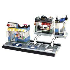 Playroom Table, Chicken Shop, Lego Modular, Shopping Street, Lego Creator, Lego City, Legos, Lego Ideas, Creations