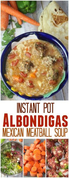 Mexican Albondigas Soup (Instant Pot Recipe) If you have an Instant Pot, one of the best things to make is Mexican Meatball Soup – it's a favorite in our family but now that Mom is the only one who eats beef, it's rare for u… Albondigas Soup Recipe Mexican, Mexican Meatball Soup, Mexican Meatballs, Mexican Chicken, Instant Pot Pressure Cooker, Pressure Cooker Recipes, Pressure Cooking, Meatballs In Pressure Cooker, Slow Cooker