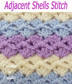 Different Crochet Stitches, Crochet Stitches For Blankets, Crochet Stitches Free, Crochet Stitches For Beginners, Crochet Gratis, Baby Afghan Crochet, Afghan Crochet Patterns, Free Crochet, Knit Crochet