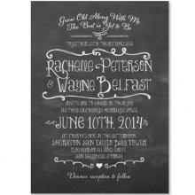 "Happy Board Chalk Invitation (Set of 30), A wonderful site for ""green weddings"""