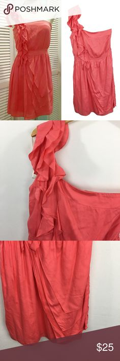 MM Miss Me coral pink one shoulder dress **** IF YOU THINK OUR AFFORDABLE PRICES ARE TOO HIGH FOR YOU, MAKE A REASONABLE OFFER ON ANY OF THE ITEMS IN OUR STORE AND WE MAY ACCEPT IT****     - Size:  small - Material: rayon  - Condition: EXCELLENT, like new  - Color: coral pink  - Pockets: n/a - Lined:  - Closure: zipper/ hook  - Pair with:    *Measurements:   Bust:  WAIST: Length:  SLEEVE: Rise: Inseam:   * The more you buy the more you save. Feel free to ask any questions. Thank you for…