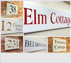 House Signs personalized for your Home. Custom made House Names & Door Numbers in quality outdoor materials. Specialists in V-Groove Engraved Slate Signs, Reflective Signs & Hand Painted Decorative Plaques Clarendon Homes, Slate Signs, House Names, House Signs, Door Numbers, Outdoor Material, Will Turner, Personalized Signs, Hand Painted