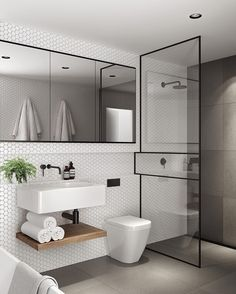 Modern Small Bathroom Design The Basic Components of Modern Bathroom Designs Modern Small Bathroom Design. Incorporating a modern bathroom design will give you a more … House Bathroom, Bathrooms Remodel, Bathroom Toilets, Bathroom Interior Design, Bathroom Decor, Interior, Small Bathroom Remodel, Modern Bathroom Design, Shower Room
