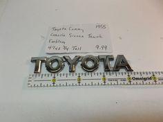 Toyota Camry Corolla Sienna TRUNK EMBLEM nameplate logo badge symbol oem 1955  #TOYOTATRUNKEMBLEM