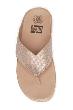 c08c016651b Image of Fitflop Crystal Wedge Thong Sandal
