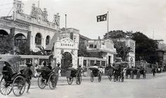 -- Dadong Hotel (no idea where it was) Colonial Architecture, World Photo, British Colonial, Vintage China, Vintage Photographs, 1940s, Hong Kong, Asia, Street View