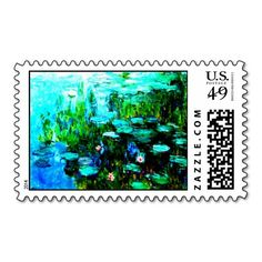 All Occasion Monet Nympheas Postage