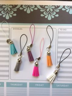 Colorful Tassel Charms for your Midori or Erin Condren Planner