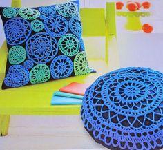 Jeito de Casa: Almofadas de crochê para inspirar e decorar