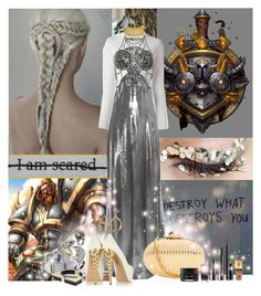 """""""WoW Female Warrior's Dress"""" by lady-redrise ❤ liked on Polyvore featuring Chanel, MARA, Yves Saint Laurent, Givenchy, IDRISS GUELAI ATELIER, AZZA FAHMY, Hiro + Wolf, Alexander McQueen, Tom Ford and Clinique"""