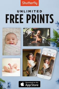 Get unlimited free prints + unlimited free photo storage only on the Shutterfly app. No code needed.