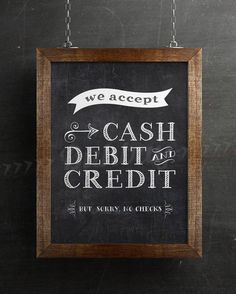 Forms of Payment Accepted Chalk Sign by BuhbayQuotes Vendor Displays, Craft Booth Displays, Vendor Booth, Market Displays, Farmers Market Display, Craft Show Booths, Craft Show Ideas, Sign Display, Display Ideas
