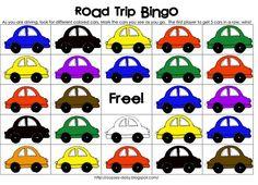Road Trip Bingo Printables