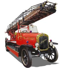 Fire, Turntable Ladder Public Domain, Free Pictures, Free Images, Vintage Cars, Antique Cars, Country Maps, Car Images, Old West, Turntable