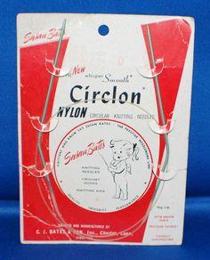 Vintage Susan Bates Circlon Circular Knitting Needles