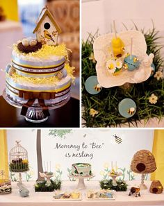 Love love love this theme: Birds & Bees Baby Shower