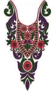 Neck Embroidery Design 12561