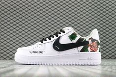 Nike Air Force 1 07 (white base with black stripe titled
