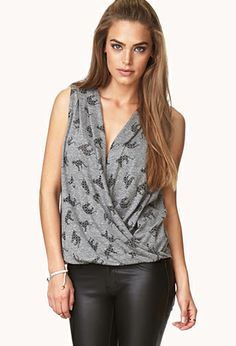 Safari Frenzy Surplice Top | FOREVER 21 - 2000074029 Safari Outfits, Safari Clothes, Apple Body Shapes, Surplice Top, Latest Trends, Forever 21, 21st, My Style, Stylish