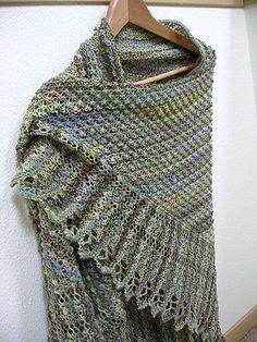 Ravelry: Trinity Stitch Shawl pattern by Esther Smith Bozak free pattern Poncho Au Crochet, Crochet Shawls And Wraps, Knitted Shawls, Knit Or Crochet, Crochet Scarves, Lace Knitting, Knitting Stitches, Knitting Patterns Free, Free Pattern